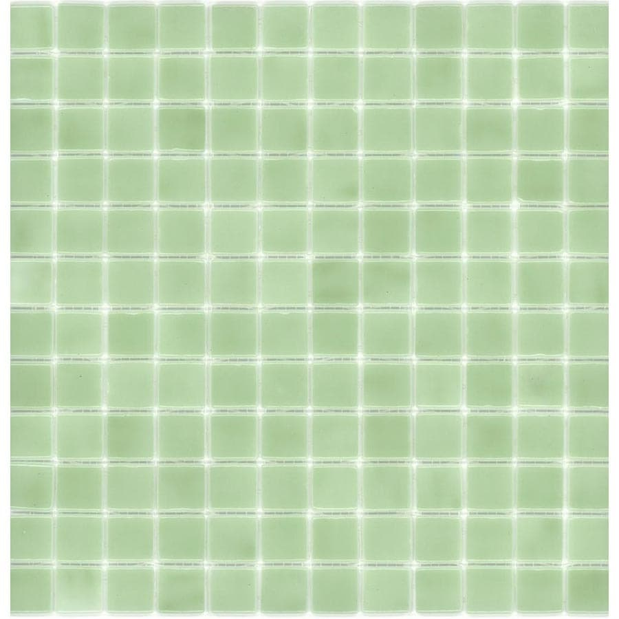 Elida Ceramica Recycled Cucumber Glass Mosaic Square Indoor/Outdoor Wall Tile (Common: 12-in x 12-in; Actual: 12.5-in x 12.5-in)
