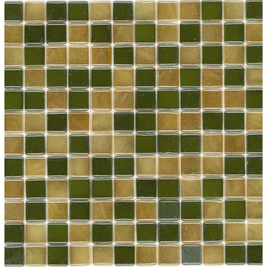 Elida Ceramica Recycled Mohave Gold Glass Mosaic Square Indoor/Outdoor Wall Tile (Common: 12-in x 12-in; Actual: 12.5-in x 12.5-in)