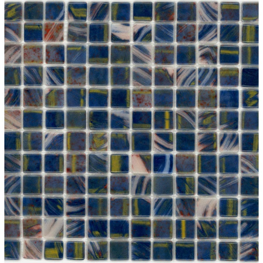Elida Ceramica Recycled Bird Of Paradise Glass Mosaic Square Indoor/Outdoor Wall Tile (Common: 12-in x 12-in; Actual: 12.5-in x 12.5-in)