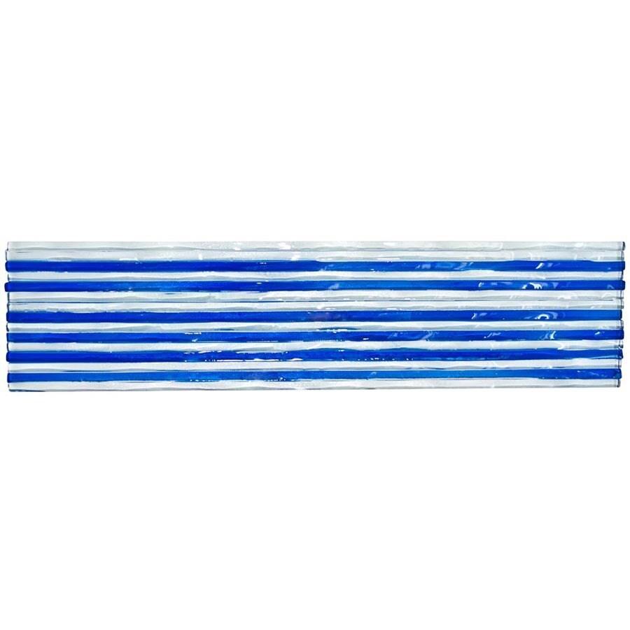Elida Ceramica Murano Clear Fonte Glass Listello Tile (Common: 3-in x 12-in; Actual: 3-in x 12-in)