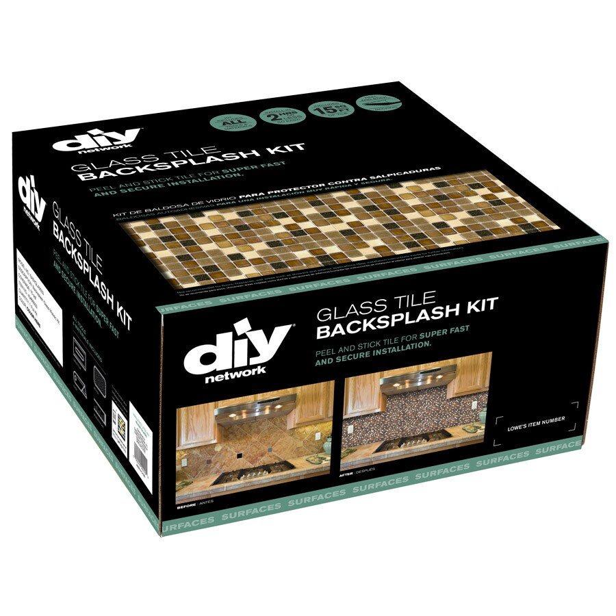 Shop Diy Network 15 Pack 12 X 12 Backsplash Kit Multi