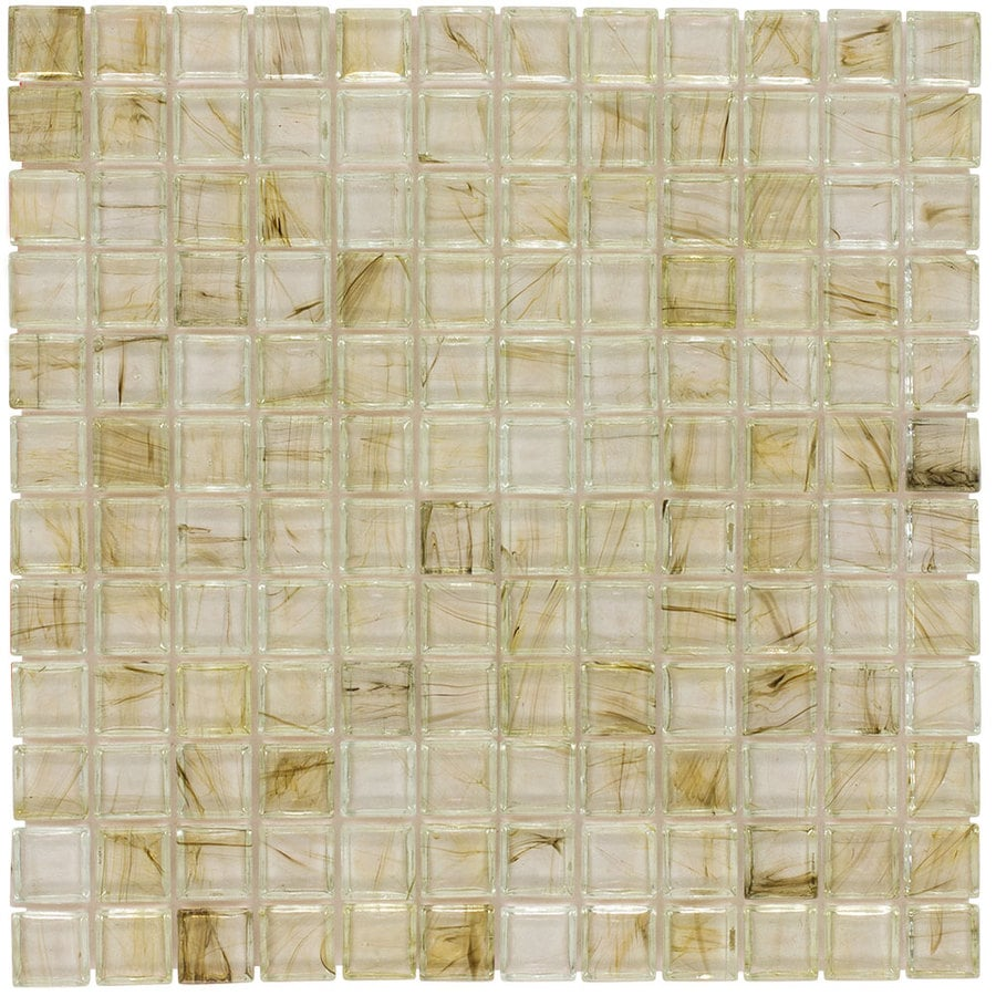 Elida Ceramica Sugar Uniform Squares Mosaic Glass Wall Tile (Common: 12-in x 12-in; Actual: 11.75-in x 11.75-in)