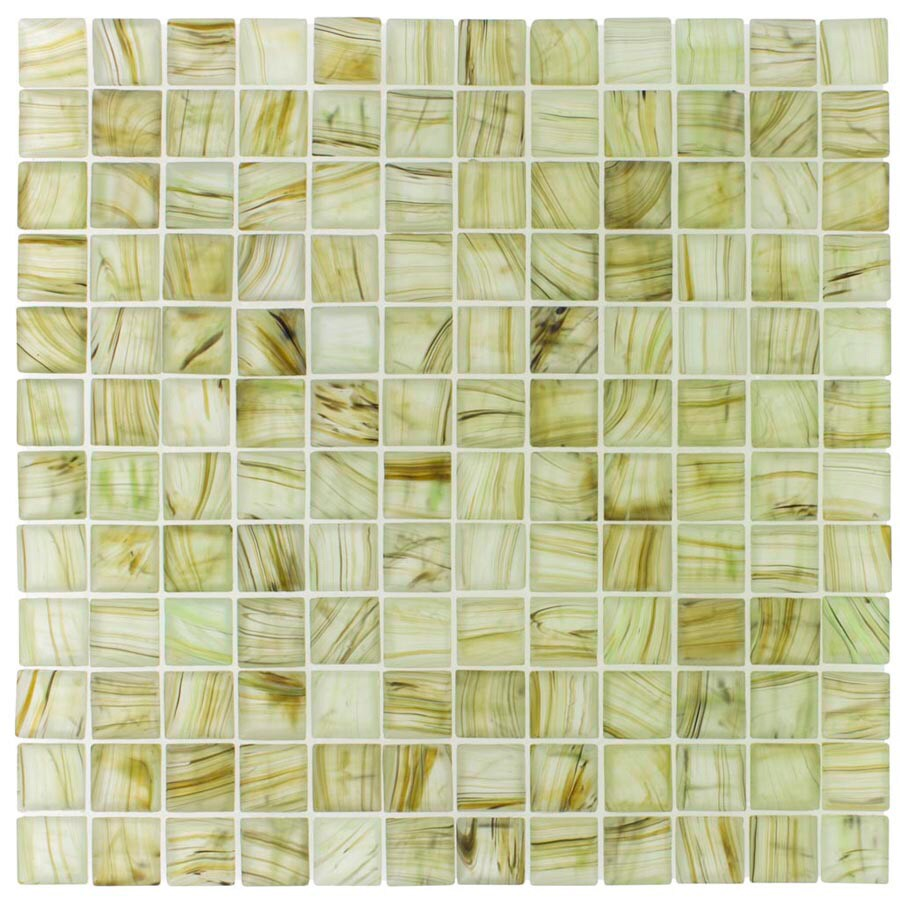 Elida Ceramica Wild Pine Glass Mosaic Square Indoor/Outdoor Wall Tile (Common: 12-in x 12-in; Actual: 11.75-in x 11.75-in)
