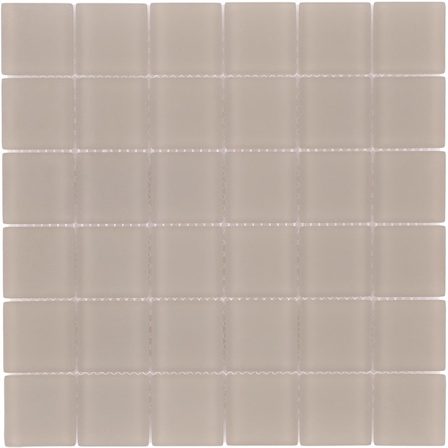 Elida Ceramica Sands Uniform Squares Mosaic Glass Wall Tile (Common: 12-in x 12-in; Actual: 11.75-in x 11.75-in)