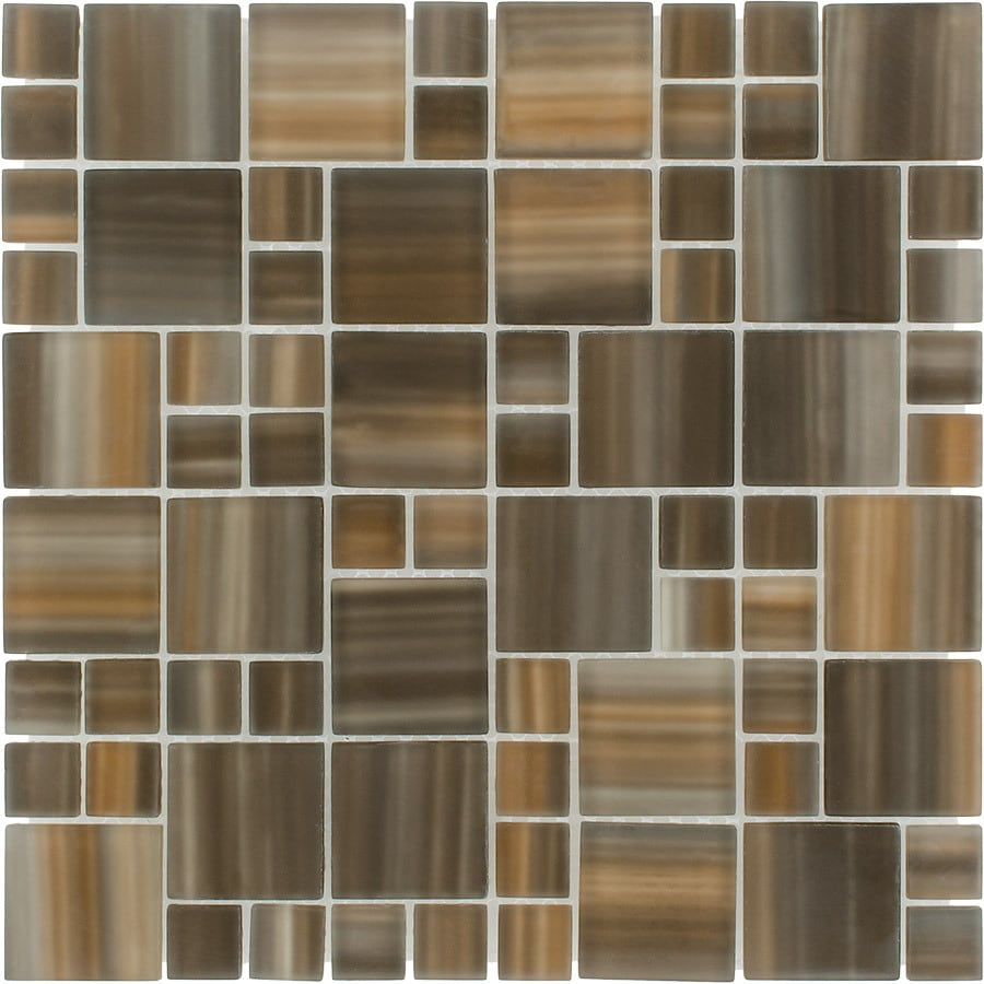 Bamboo Tiles For Bathroom: Shop Elida Ceramica Wild Bamboo Cubes Mosaic Glass Wall