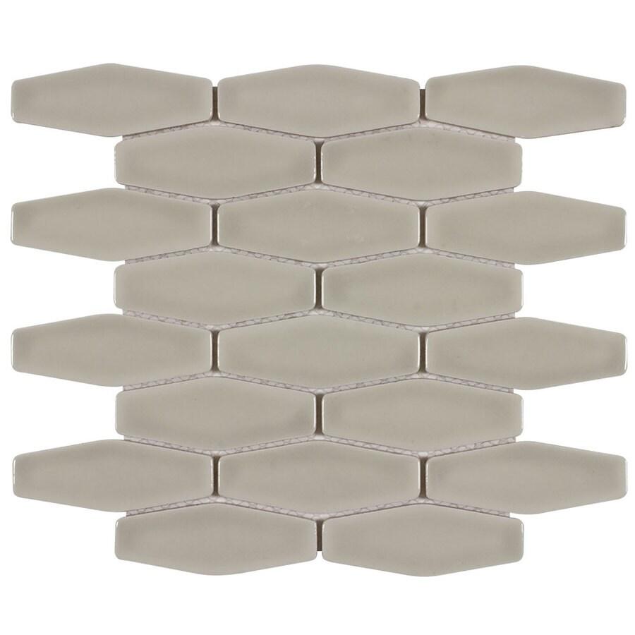 Elida Ceramica Puma Long Hex Mosaic Ceramic Wall Tile (Common: 12-in x 12-in; Actual: 11.251-in x 11.15-in)