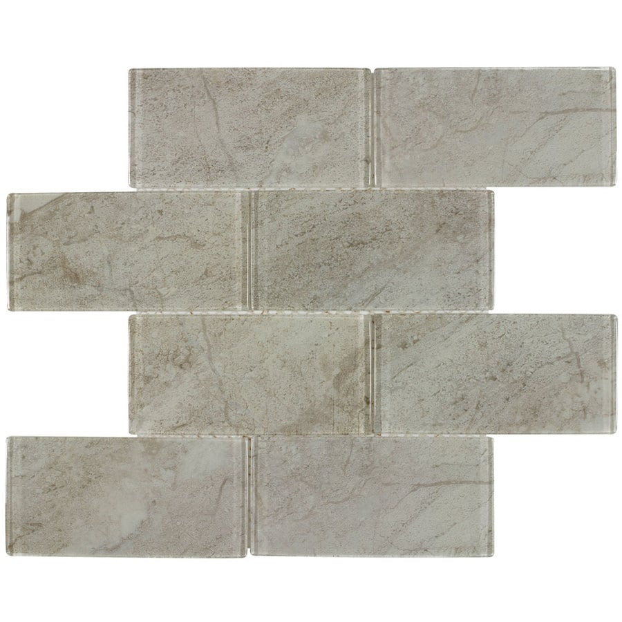 Elida Ceramica Glass Marmol Subway Mosaic Glass Wall Tile (Common: 12-in x 12-in; Actual: 11.65-in x 11.75-in)