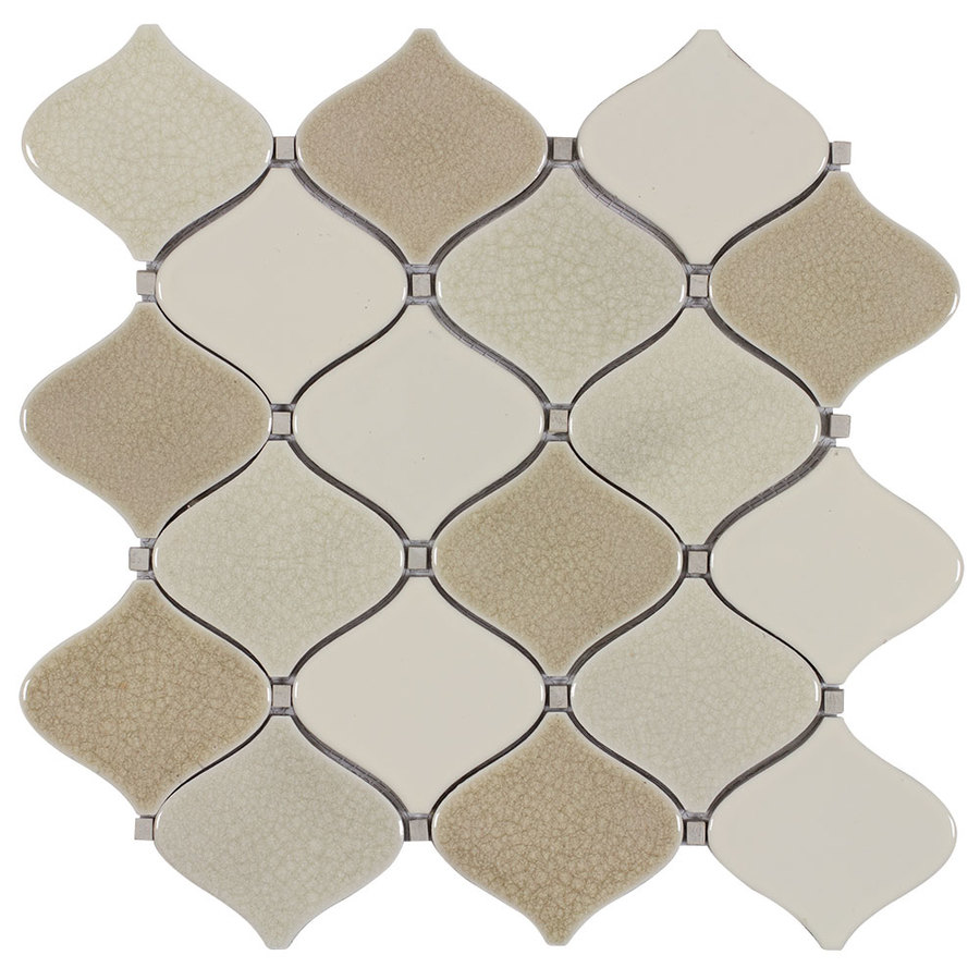 allen + roth Bellport Natural Lantern Mosaic Porcelain Wall Tile (Common: 12-in x 12-in; Actual: 11.55-in x 11.653-in)