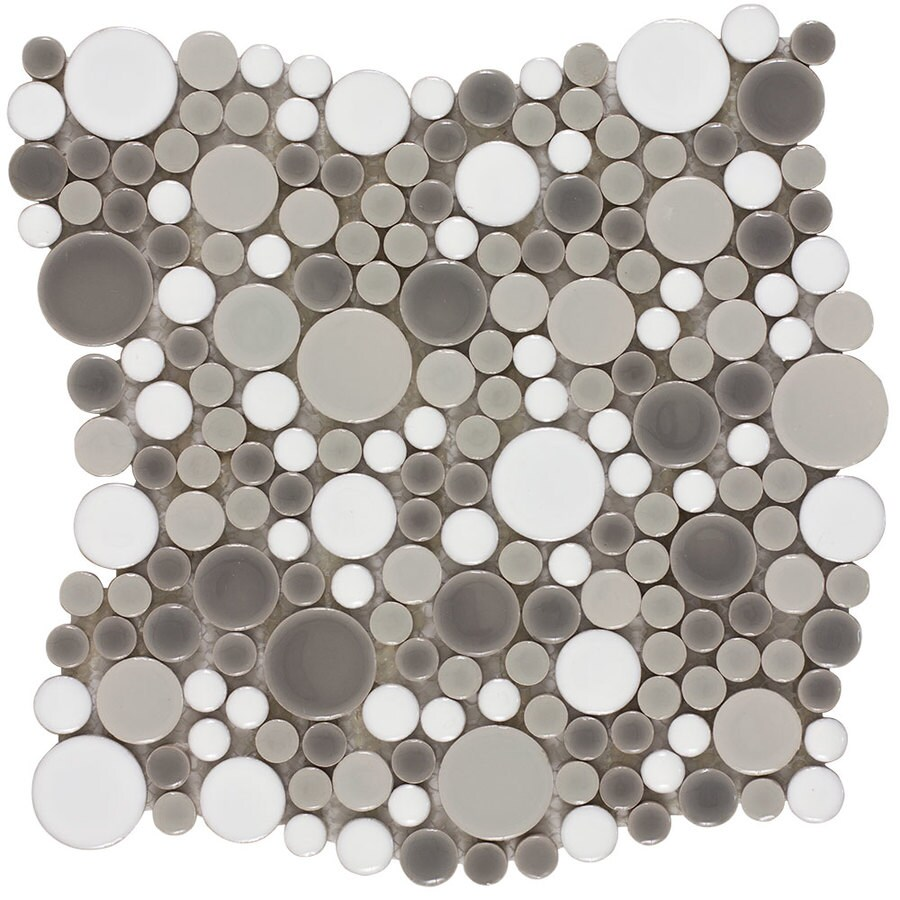 Elida Ceramica Rounded Blend Circular Mosaic Porcelain Wall Tile (Common: 11-in x 11-in; Actual: 10.8-in x 10.748-in)