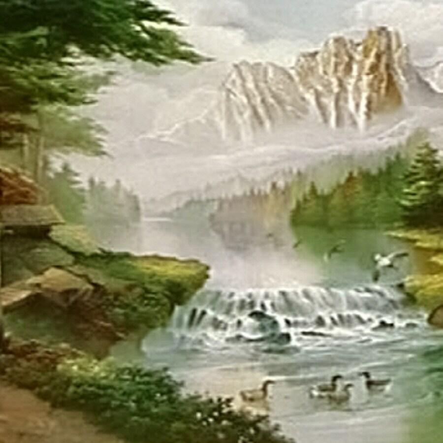 shop astek mural wallcovering at lowes com jp london pmur2355 green vertical text ustrip peel and