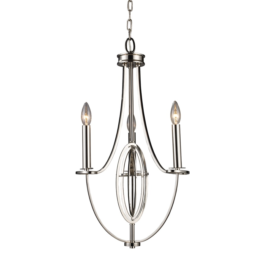 Westmore Lighting Academy 15-in 3-Light Polished Nickel Candle Chandelier
