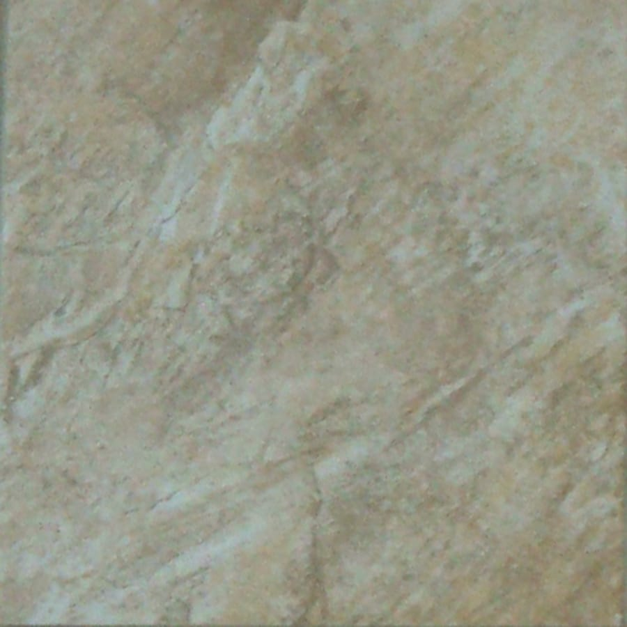 StonePeak Ceramics Inc. 12-in x 12-in Castle Stone Autumn Glazed Porcelain Floor Tile