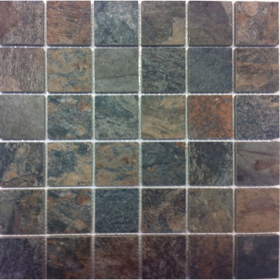 Style Selections Aspen Sunset Porcelain Slate Border Tile (Common: 12-in x 12-in; Actual: 11.73-in x 11.73-in)