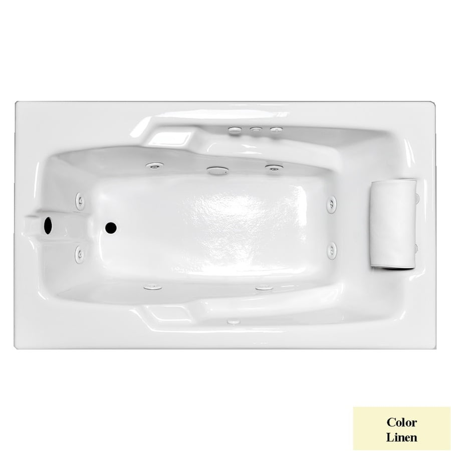 Laurel Mountain Mercer Iii 1-Person Linen Acrylic Rectangular Whirlpool Tub (Common: 36-in x 72-in; Actual: 22-in x 36-in x 72-in)