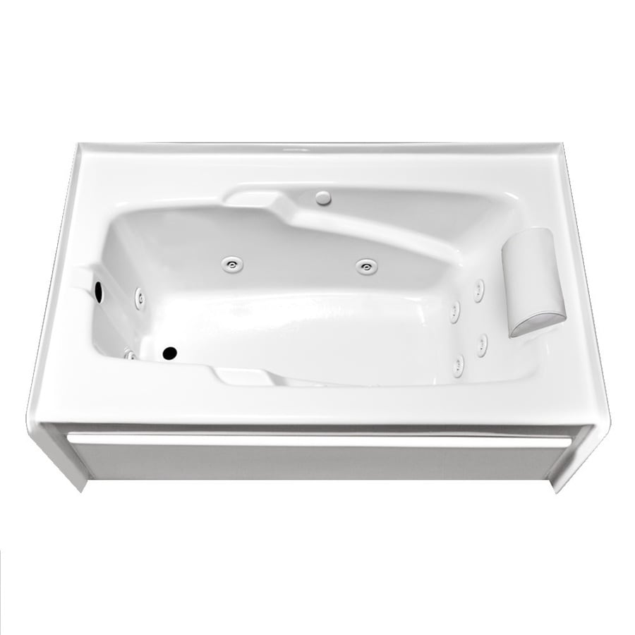 Laurel Mountain Skirted Alcove Mercer Iv 1-Person White Acrylic Rectangular Whirlpool Tub (Common: 32-in x 60-in; Actual: 22-in x 32-in x 60-in)