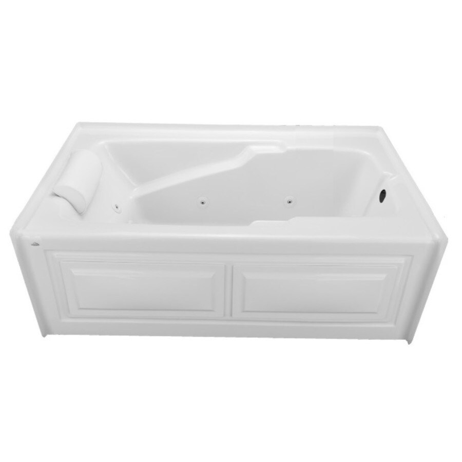Laurel Mountain Skirted Alcove Mercer V 1-Person White Acrylic Rectangular Whirlpool Tub (Common: 36-in x 60-in; Actual: 22-in x 36-in x 60-in)