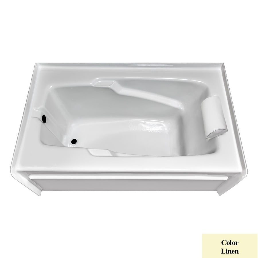 Laurel Mountain Mercer Vi Linen Acrylic Rectangular Skirted Bathtub with Left-Hand Drain (Common: 36-in x 72-in; Actual: 21.5-in x 36-in x 72-in