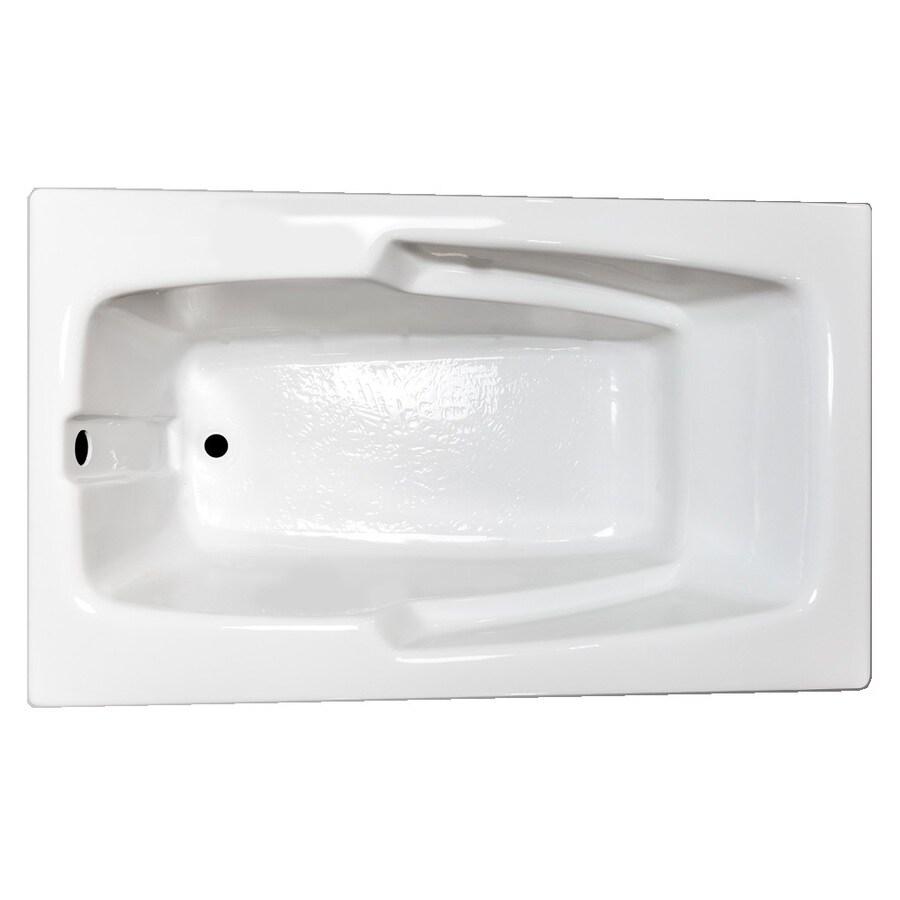 Laurel Mountain Standard Trade Ii White Acrylic Rectangular Drop-in Bathtub with Reversible Drain (Common: 36-in x 60-in; Actual: 21.5-in x 35.625-in x 59.5-in