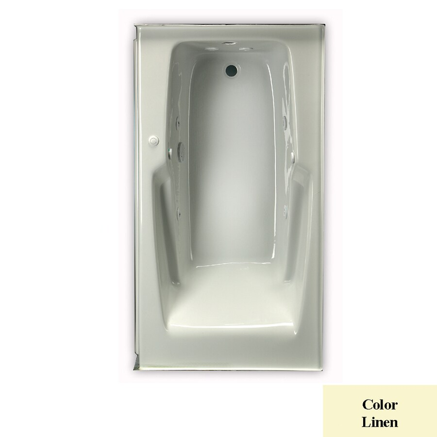 Laurel Mountain Standard Trade Iv 1-Person Linen Acrylic Rectangular Whirlpool Tub (Common: 36-in x 66-in; Actual: 21.5-in x 36-in x 66-in)
