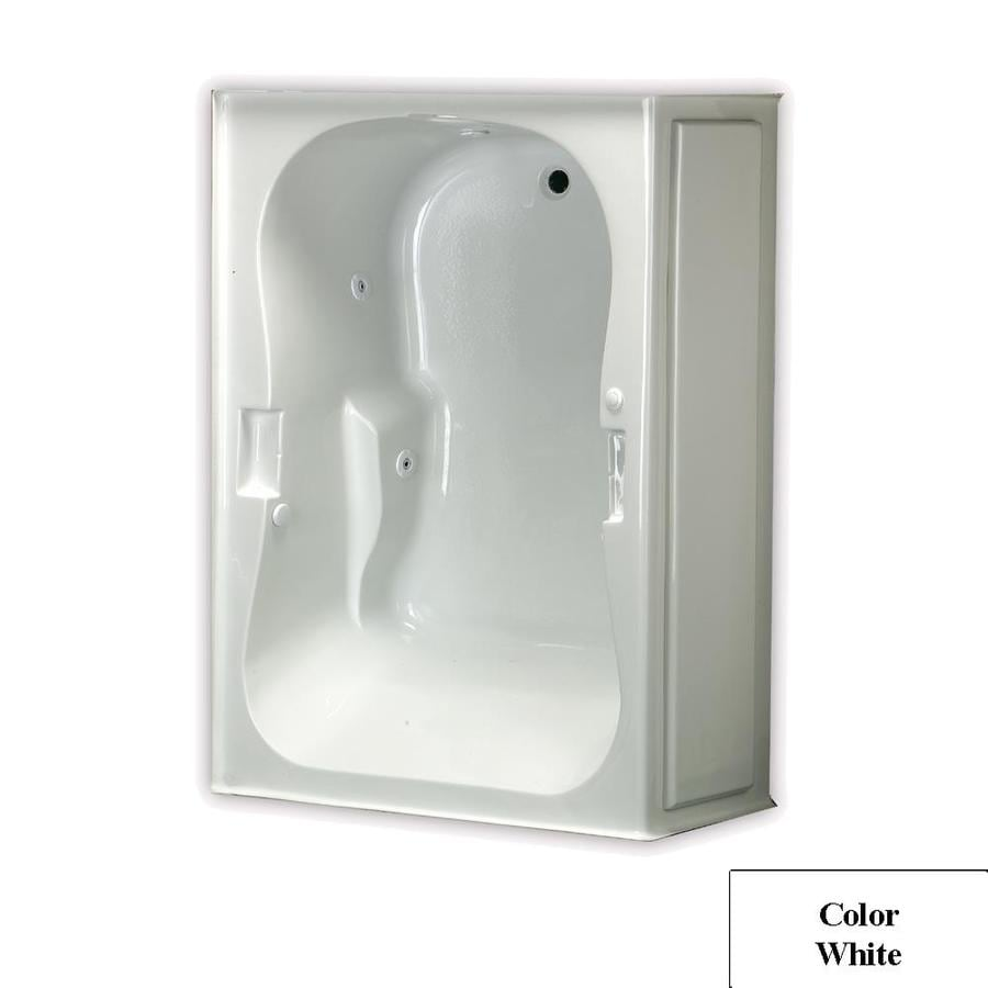 Laurel Mountain Hourglass Trade 1-Person White Acrylic Hourglass In Rectangle Whirlpool Tub (Common: 42-in x 60-in; Actual: 21.5-in x 42-in x 60-in)