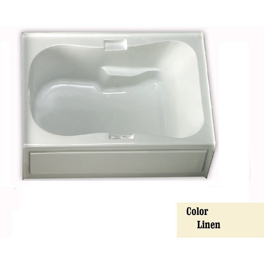 Laurel Mountain Hourglass Trade Ii 1-Person Linen Acrylic Hourglass In Rectangle Whirlpool Tub (Common: 42-in x 72-in; Actual: 21.5-in x 42-in x 72-in)