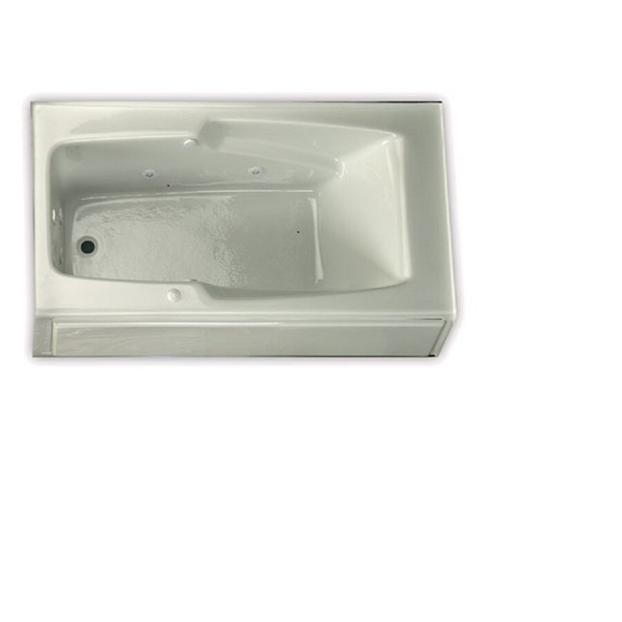 Laurel Mountain Replacement Skirted Trade White Acrylic Rectangular Skirted Bathtub with Left-Hand Drain (Common: 32-in x 60-in; Actual: 18.5-in x 32-in x 59.75-in