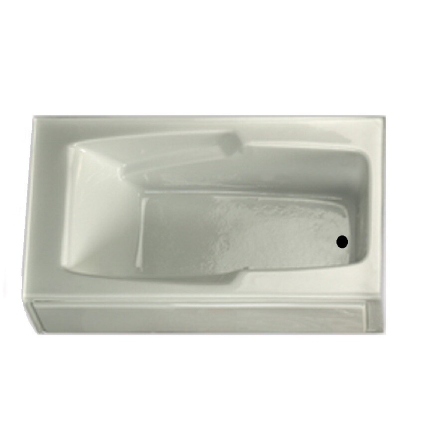 Laurel Mountain Trade Replacement 59.75-in L x 32-in W x 18.5-in H White Acrylic 1-Person-Person Rectangular Skirted Air Bath