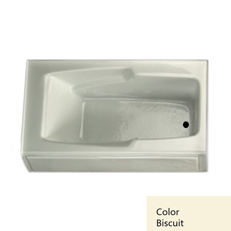 Laurel Mountain Trade Replacement 59.75-in L x 32-in W x 18.5-in H Biscuit Acrylic 1-Person-Person Rectangular Skirted Air Bath