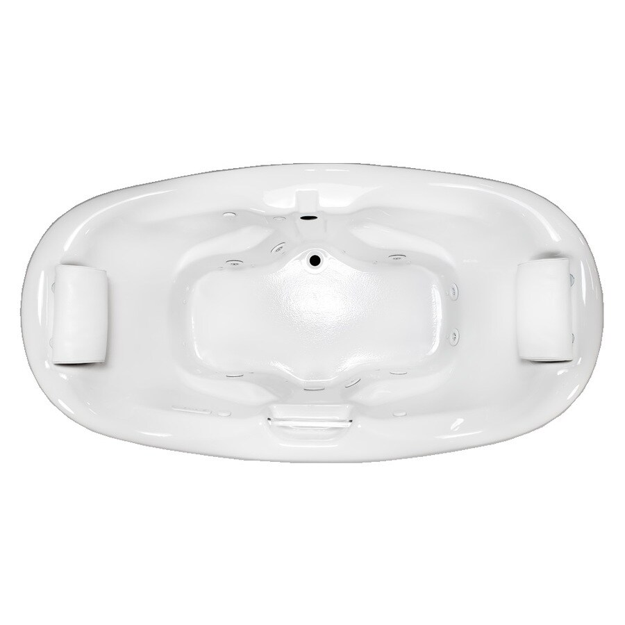 Laurel Mountain Windsor 74.5-in L x 41.75-in W x 31.25-in H 2-Person White Acrylic Oval Whirlpool Tub and Air Bath