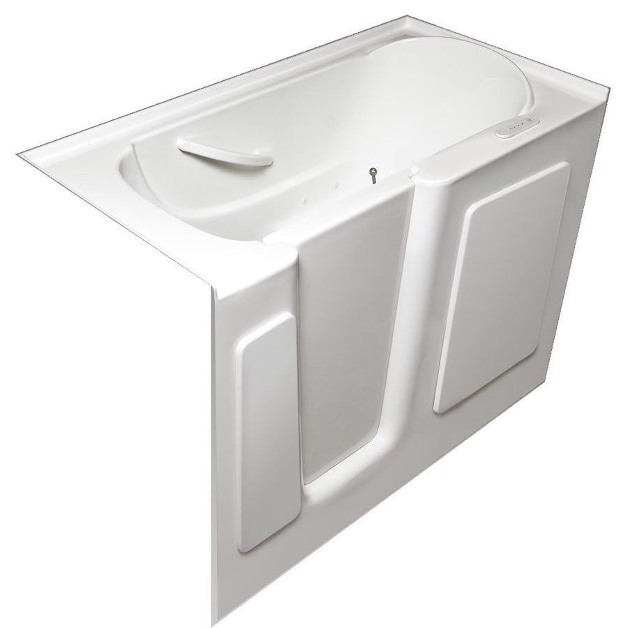 Laurel Mountain Waylin IV 54-in L x 30-in W x 38-in H White Acrylic Rectangular Walk-In Air Bath