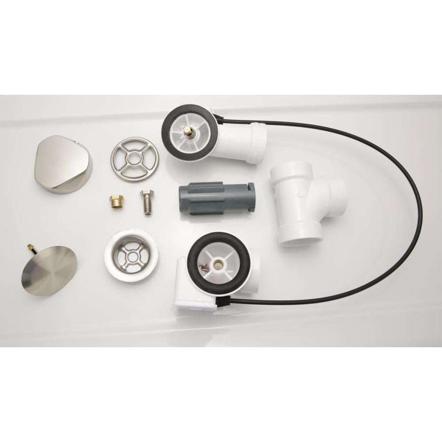 Laurel Mountain Waste and Overflow Cable Operated Drain Brushed Nickel