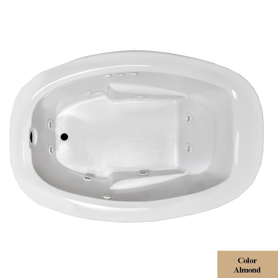 Laurel Mountain Drop In Ii Plus 1-Person Almond Acrylic Oval Whirlpool Tub (Common: 42-in x 72-in; Actual: 23-in x 41.5-in x 71.75-in)