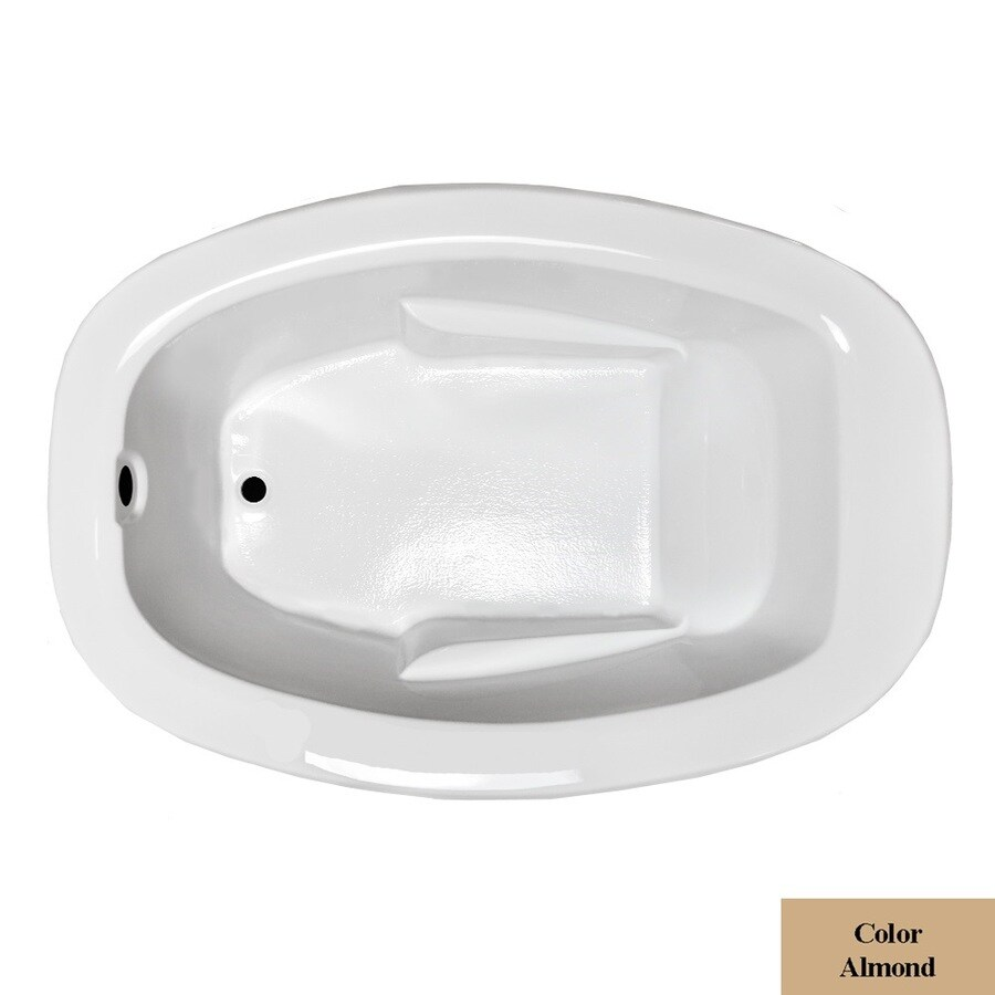 Laurel Mountain Drop In Ii Plus Almond Acrylic Oval Drop-in Bathtub with Reversible Drain (Common: 42-in x 72-in; Actual: 23-in x 41.5-in x 71.75-in