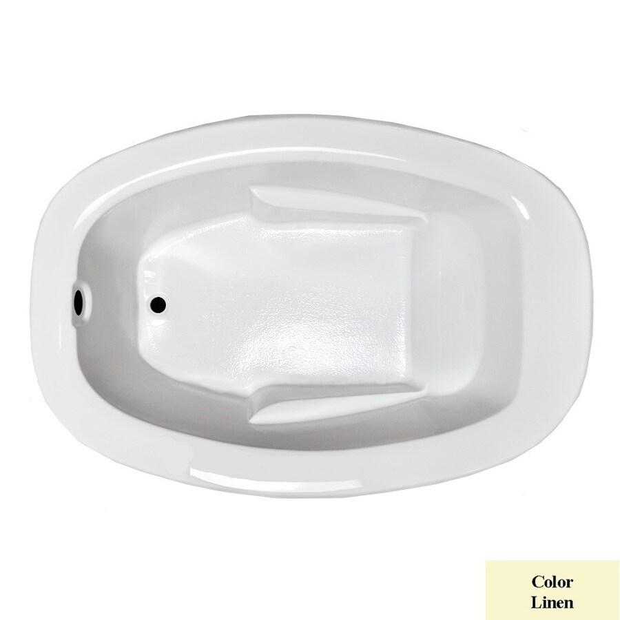 Laurel Mountain Drop In Ii Plus Linen Acrylic Oval Drop-in Bathtub with Reversible Drain (Common: 42-in x 72-in; Actual: 23-in x 41.5-in x 71.75-in