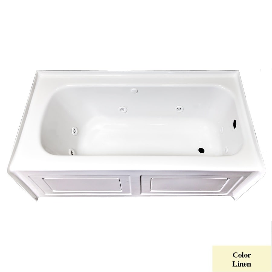 Laurel Mountain Skirted Alcove Fairhaven Iv 1-Person Linen Acrylic Rectangular Whirlpool Tub (Common: 32-in x 60-in; Actual: 22.5-in x 31.5-in x 59.75-in)