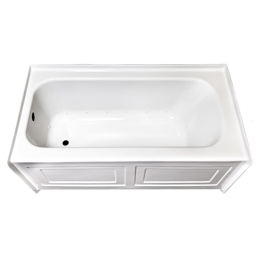 Laurel Mountain Fairhaven Iv Skirted Alcove 60-in L x 32-in W x 22.5-in H White Acrylic 1-Person-Person Rectangular Skirted Air Bath