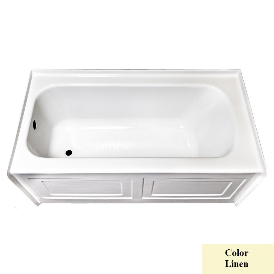 Laurel Mountain Fairhaven Iv Linen Acrylic Rectangular Skirted Bathtub with Left-Hand Drain (Common: 32-in x 60-in; Actual: 22.5-in x 31.5-in x 59.75-in