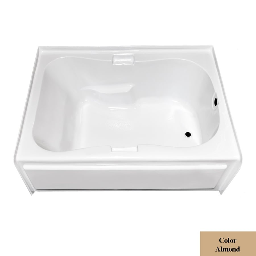 Laurel Mountain Hourglass I Plus Almond Acrylic Hourglass In Rectangle Skirted Bathtub with Right-Hand Drain (Common: 42-in x 60-in; Actual: 21.5-in x 41.75-in x 59.5-in