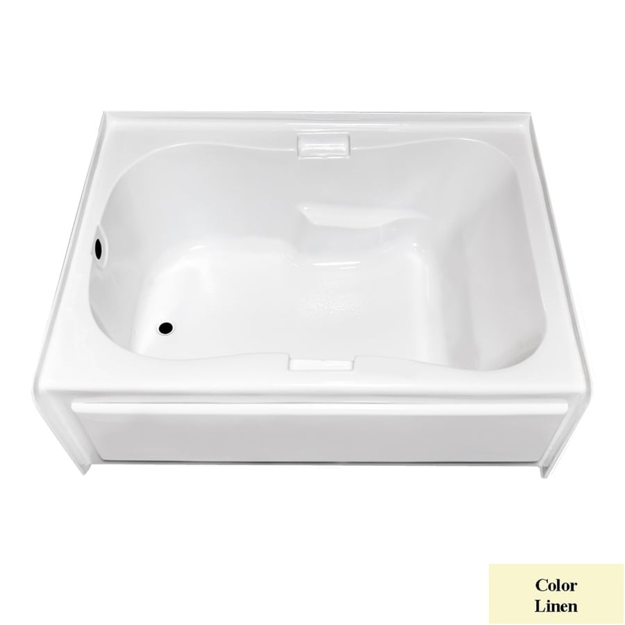 Laurel Mountain Hourglass I Plus Linen Acrylic Hourglass In Rectangle Skirted Bathtub with Left-Hand Drain (Common: 42-in x 60-in; Actual: 21.5-in x 41.75-in x 59.5-in