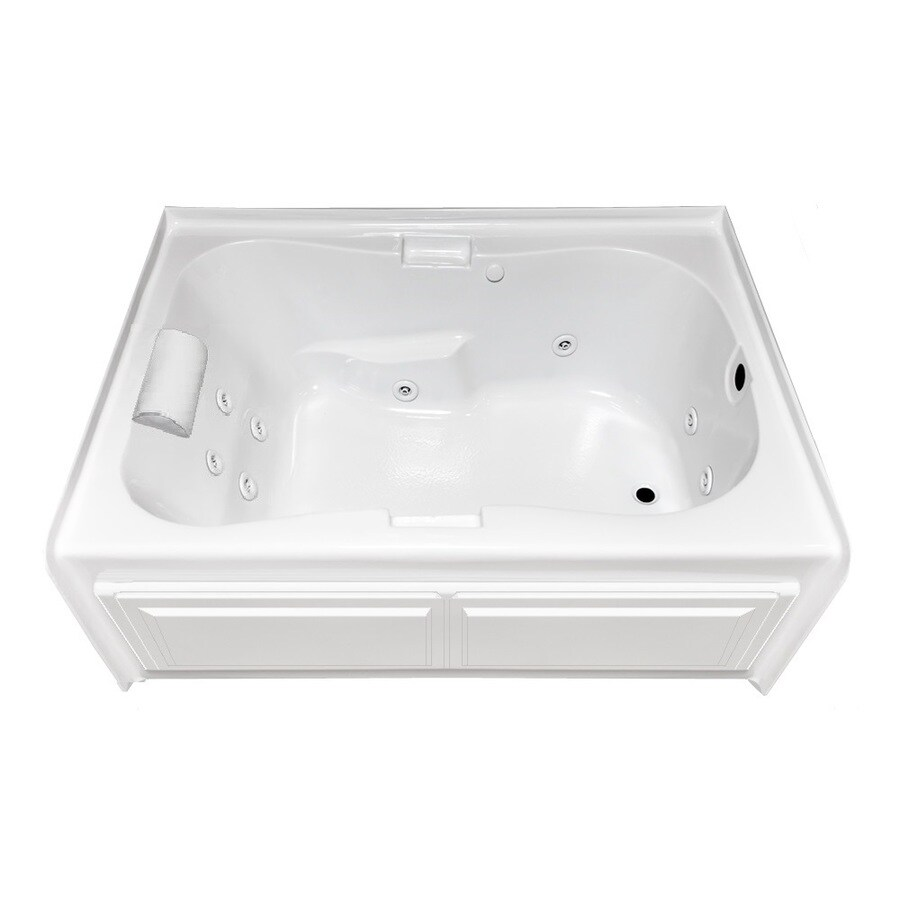 Laurel Mountain Hourglass Ii Plus 71.75-in L x 41.75-in W x 21.5-in H 1-Person White Acrylic Hourglass In Rectangle Whirlpool Tub and Air Bath