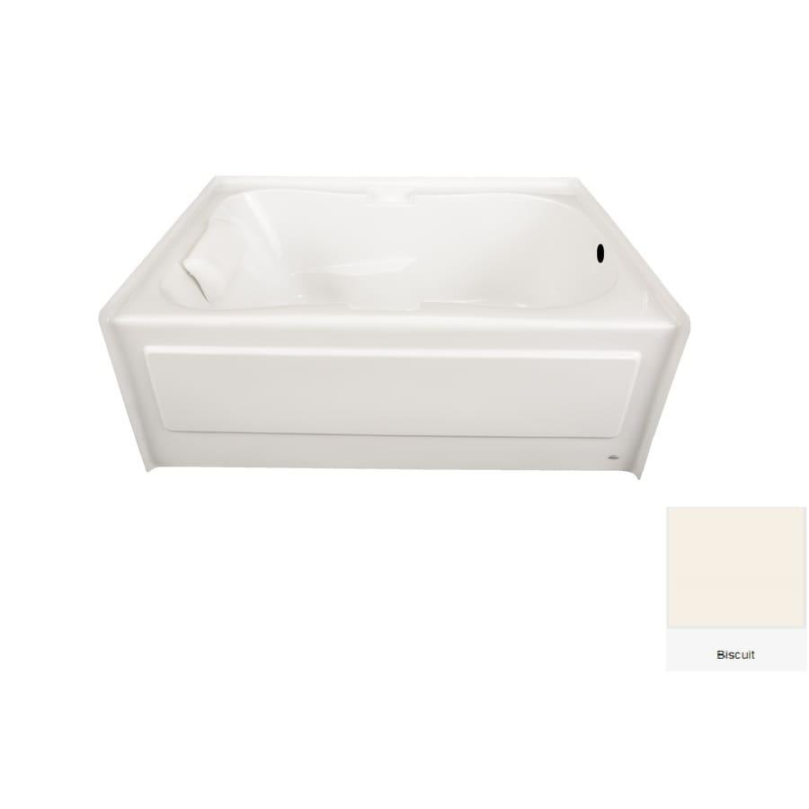 Laurel Mountain Hourglass Ii Plus Biscuit Acrylic Hourglass In Rectangle Skirted Bathtub with Right-Hand Drain (Common: 42-in x 72-in; Actual: 21.5-in x 41.75-in x 71.75-in