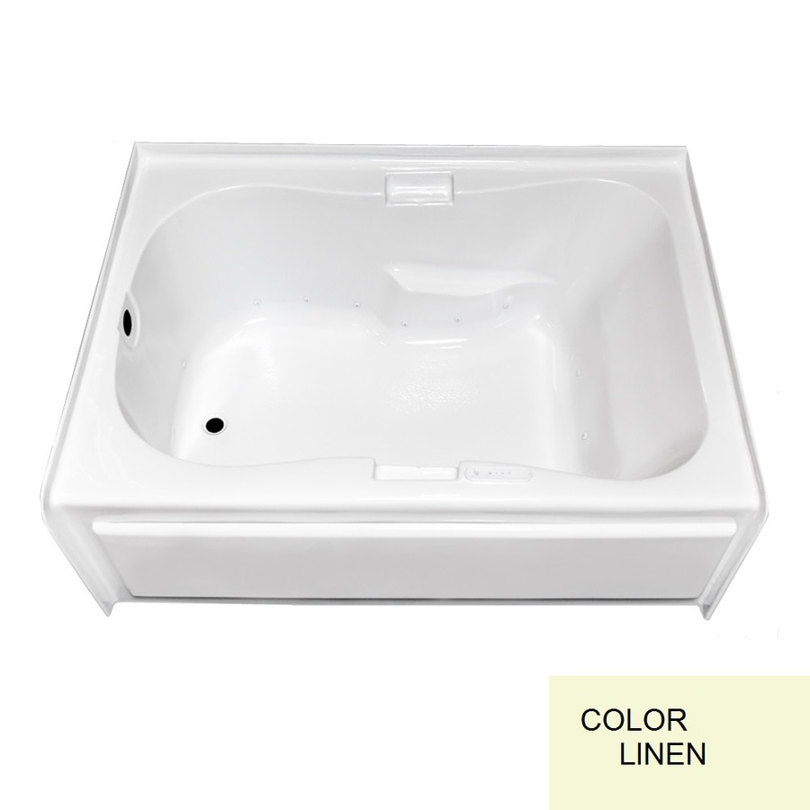 Laurel Mountain Hourglass Ii Plus Skirted Alcove 72-in L x 42-in W x 21.5-in H Linen Acrylic 1-Person-Person Hourglass In Rectangle Skirted Air Bath