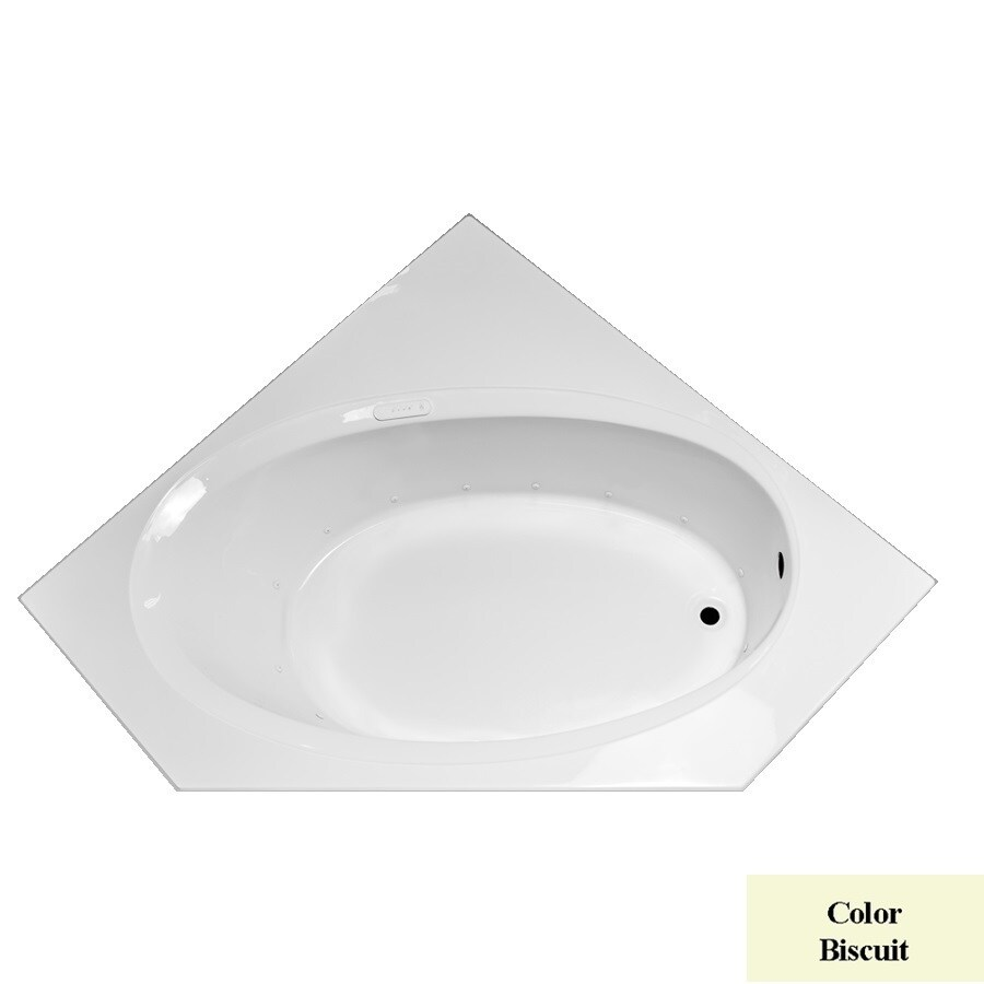 Laurel Mountain Vandale 60-in L x 60-in W x 20.5-in H Biscuit Acrylic 2-Person-Person Corner Drop-in Air Bath