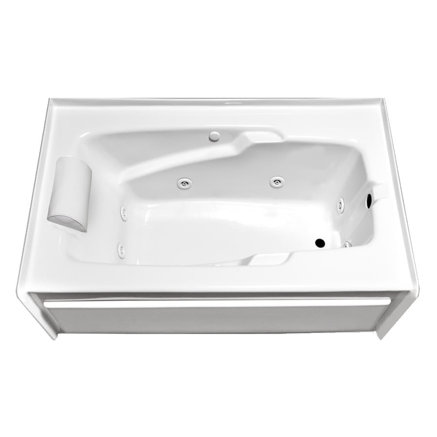 Laurel Mountain Mercer Vi Deluxe Right Hand 1-Person White Acrylic Rectangular Whirlpool Tub (Common: 36-in x 72-in; Actual: 21.5-in x 36-in x 72-in)