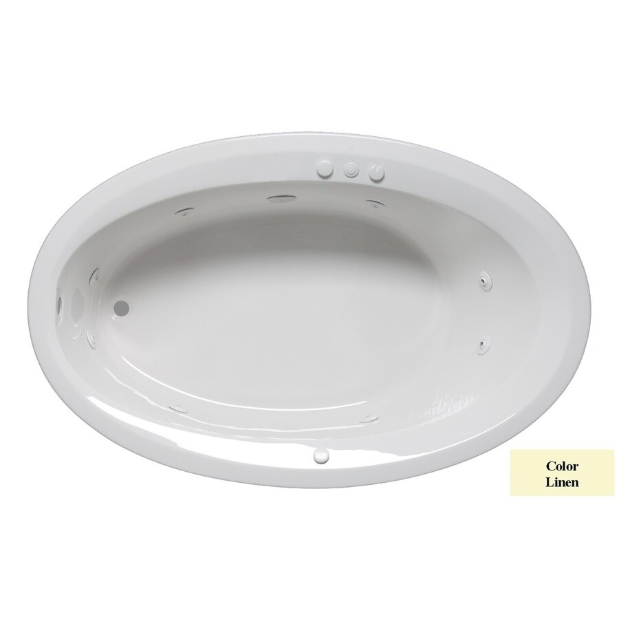 Laurel Mountain Corry Iv 1-Person Linen Acrylic Oval Whirlpool Tub (Common: 42-in x 72-in; Actual: 22-in x 42-in x 72-in)