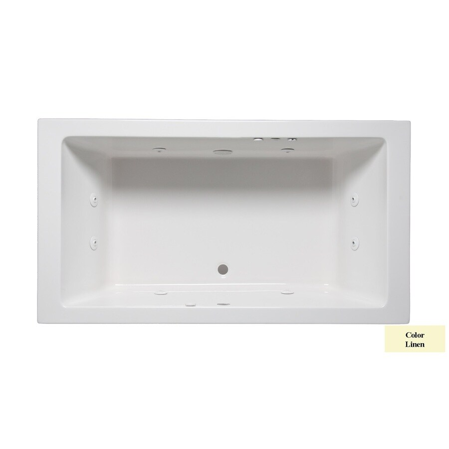 Laurel Mountain Farrell Iii 2-Person Linen Acrylic Rectangular Whirlpool Tub (Common: 42-in x 66-in; Actual: 22-in x 42-in x 66-in)