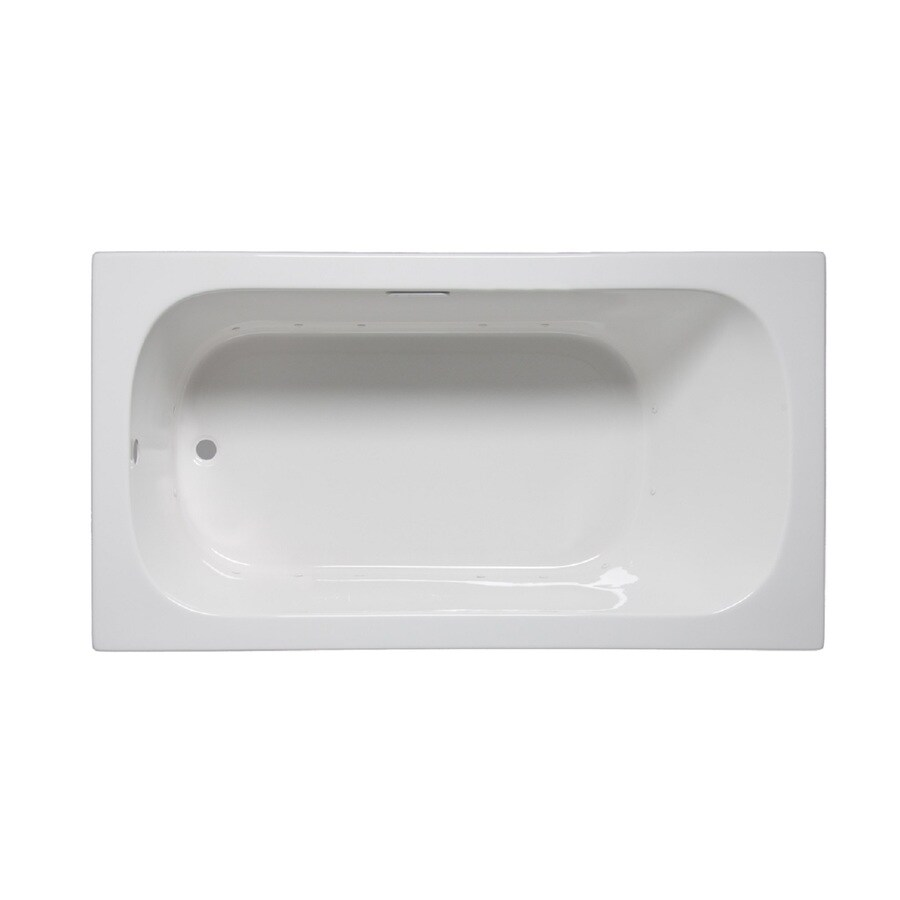 Laurel Mountain Butler Iii 66-in L x 36-in W x 22-in H White Acrylic 1-Person-Person Rectangular Drop-in Air Bath