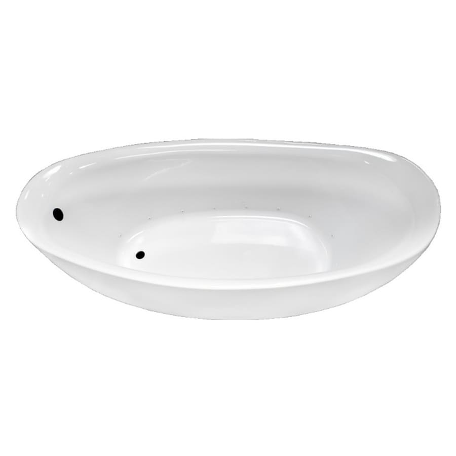 Laurel Mountain Dubois 72-in L x 32-in W x 28-in H White Acrylic 1-Person-Person Oval Freestanding Air Bath