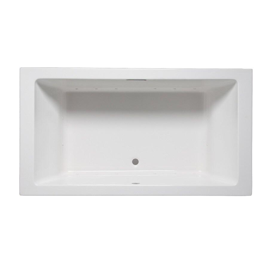 Laurel Mountain Farrell Ii 72-in L x 36-in W x 22-in H White Acrylic 2-Person-Person Rectangular Drop-in Air Bath