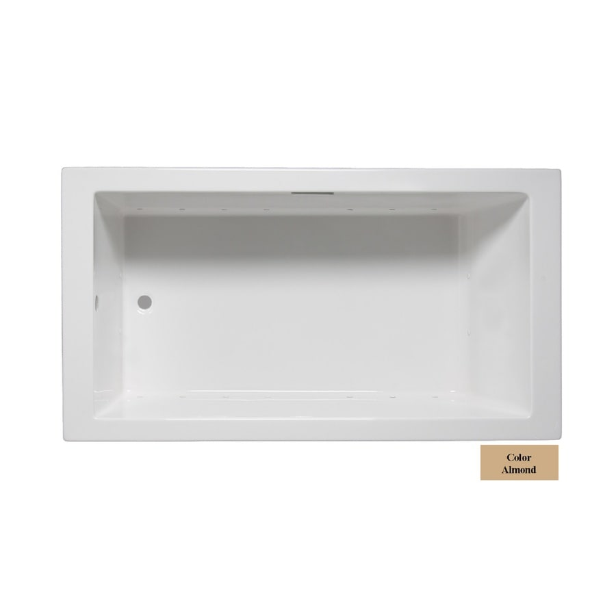 Laurel Mountain Parker I 60-in L x 30-in W x 22-in H Almond Acrylic 1-Person-Person Rectangular Drop-in Air Bath